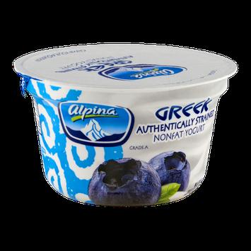 Alpina Greek Nonfat Yogurt Blueberry