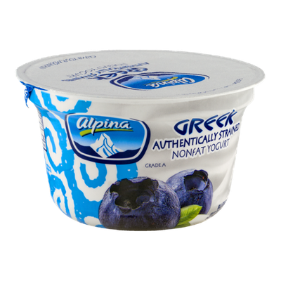 Alpina Greek Nonfat Yogurt Blueberry