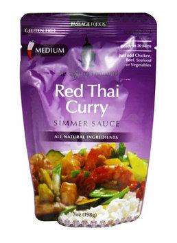 Passage Foods Passage To Thailand Simmer Sauce Gluten Free Red Thai Curry 7 oz