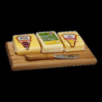 Roth Kase Mini Cheeseboard Kit Havarti, Gruyere & Pepper Jack - 3 CT
