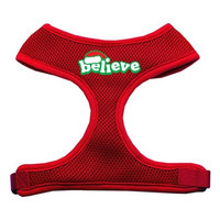 Mirage Pet Products 7001 XLRD Believe Screen Print Soft Mesh Harnesses Red Extra Large