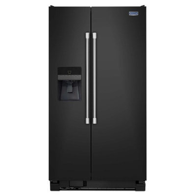 Maytag MSF21D4MDE 21.0 Cu. Ft. Black Side-By-Side Refrigerator - Energy Star