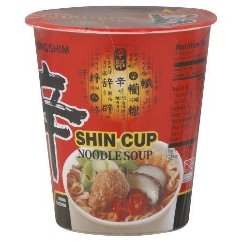 Nong Shim Nongshim Spicy Shin Ramen Cup, 2.64-Ounce