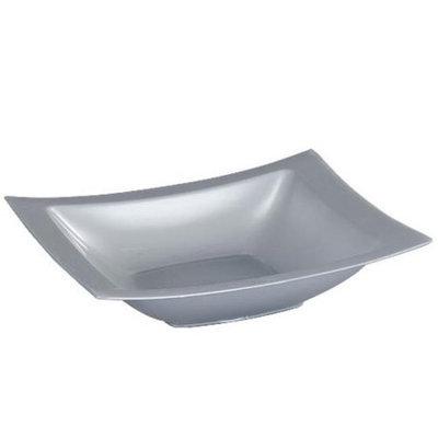 King Zak Ind Lillian Tablesettings 31820 Dinnerware 12 Oz Silver Rectangular Bowl - 120 Per Case
