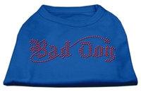 Ahi Bad Dog Rhinestone Shirts Blue XS (8)