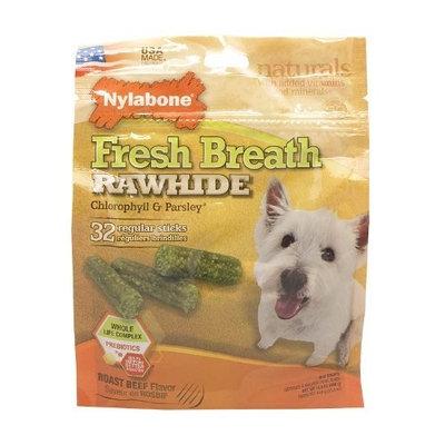Nylabone USA Rawhide Fresh Breath Chlorophyll, 32-Count Pouch