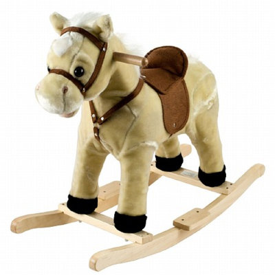 Trademark Global Happy Trails Rocking Lil' Henry the Horse - Tan