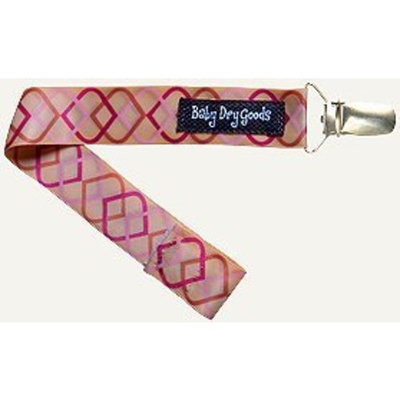 Baby Dry Goods 030-24 Pink-Brown Interlace Pacifier Clip