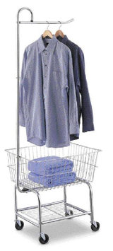 Taylor Gifts Neu Home Commercial Grade Chrome Laundry Cart