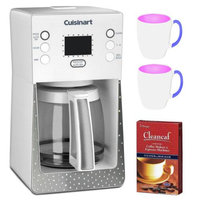 Cuisinart Crystal 14-Cup Programmable Coffeemaker (White) + Two (2) 11 Oz White