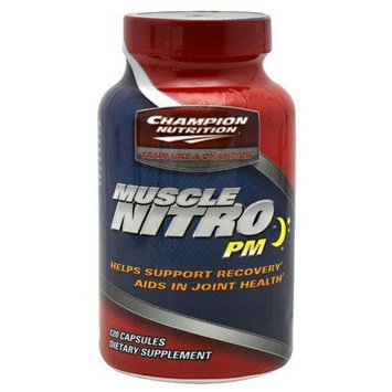Champion Nutrition Muscle Nitro Pm - 120 Capsules, 2 Pack