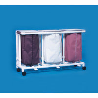 Innovative Products Unlimited Triple Linen Hamper with Foot Pedals