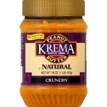 Krema Natural Crunchy Peanut Butter Spread, 16 Ounce -- 12 per case.