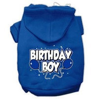 Mirage Pet Products Birthday Boy Screen Print Pet Hoodies Blue Size Med (12)