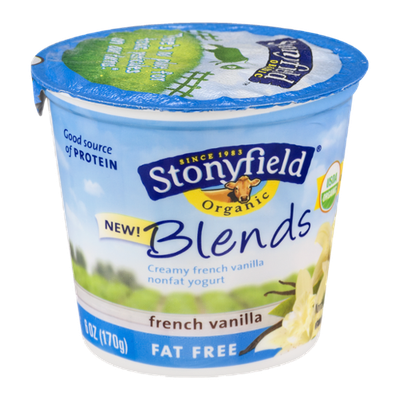 Stonyfield Organic Blends French Vanilla Fat Free