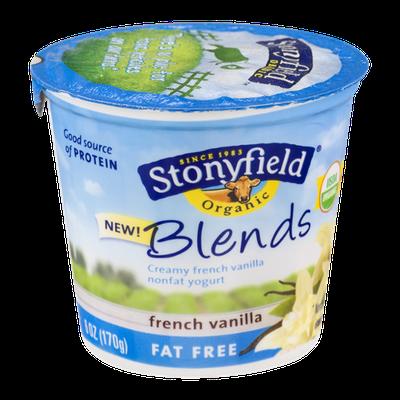 Stonyfield Organic Blends French Vanilla Fat Free