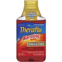Theraflu Warming Relief Sinus and Cold Cherry Flavor Liquid 8.3-Ounce