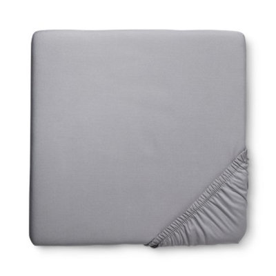 Solid Woven Fitted Crib Sheet - Grey Birch by Circo