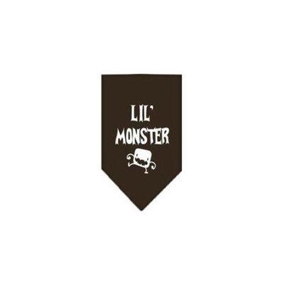Ahi Lil Monster Screen Print Bandana Cocoa Small