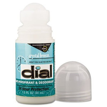Dial Crystal Breeze Anti-Perspirant Deodorant Roll-On - 1.5 oz - Case/6