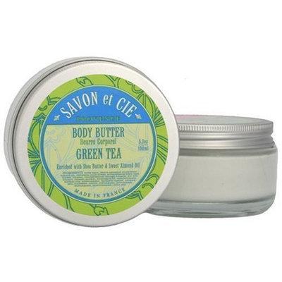 Savon et Cie Body Butter, Green Tea, 5.2 oz (100 ml)