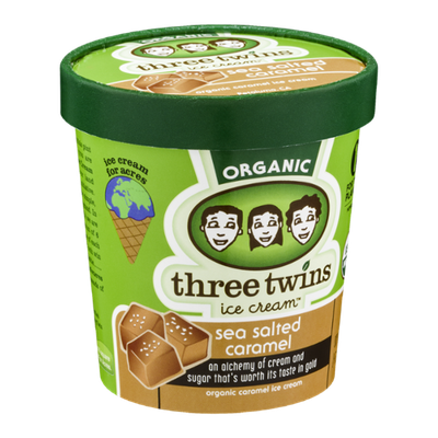 Three Twins Ice Cream Organic Sea Salted Caramel