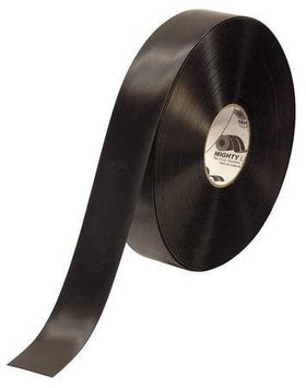 Mighty Line Industrial Floor Tape (Roll, Black, Vinyl). Model: 2RBLK