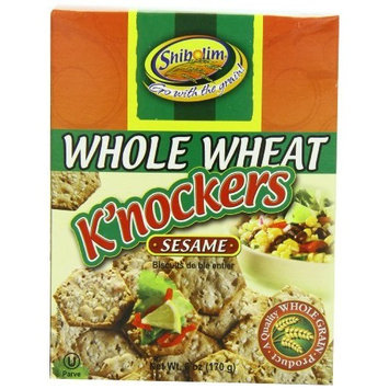 Shibolim Knocker Whole Wheat Sesame, 6 Ounce (Pack of 12)