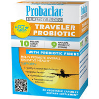 Probaclac Healthy Flora Traveler Probiotic Vegetable Dietary Supplement Capsules
