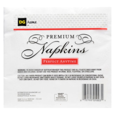 DG Home Premium Napkins - White, 100 ct