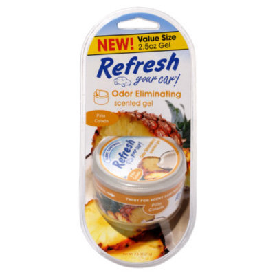 Refresh Your Car Pina Colada Scented Gel - 2.5 oz