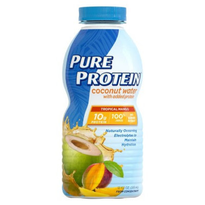 Pure Protein Tropical Mango Coconut Water Nutritional Drink - 12 oz