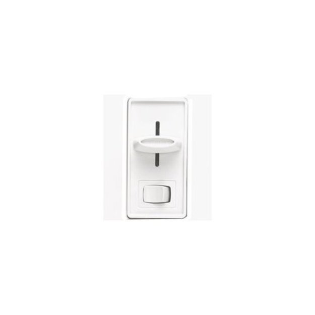 Lutron Electronics S-603PGH-WH Skylark Eco Dimr Sp & 3-Way White Preset On/Off Switch Single-P