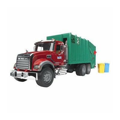 Caterpillar Bruder MACK Granite Garbage Truck - Red/Green