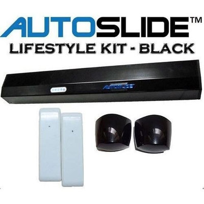 Autoslide Motion Sensor Automatic Patio Pet Door Kit Black