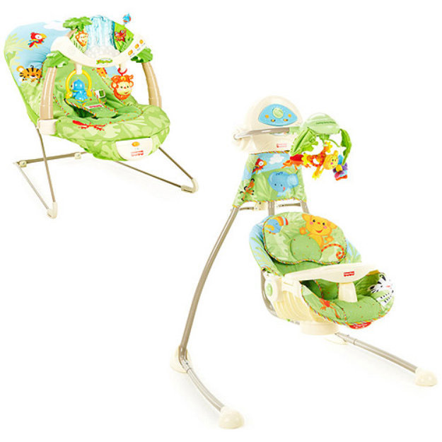 Fisher Price Fisher Price Rainforest Swing And Bouncer Set