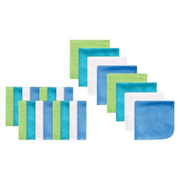 Luvable Friends Blue Infant Washcloth Set - OSFM