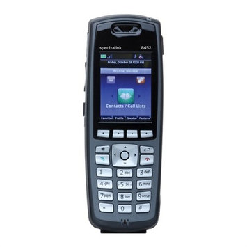 Spectralink 8452 Black Wireless Phone Without Lync Support, Battery and Charger Sold Separately