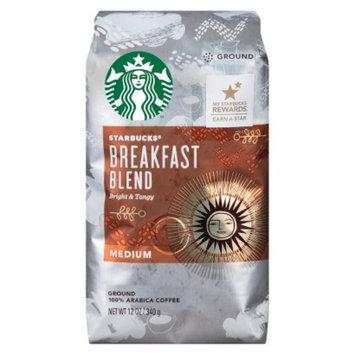 Starbucks Coffee Starbucks Breakfast Blend Medium Roast Ground Coffee 12 oz