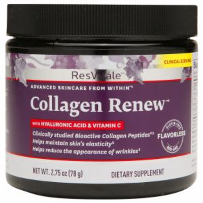 ResVitale Collagen Renew with Hyaluronic Acid & Vitamin C, Flavorless, 2.75 oz
