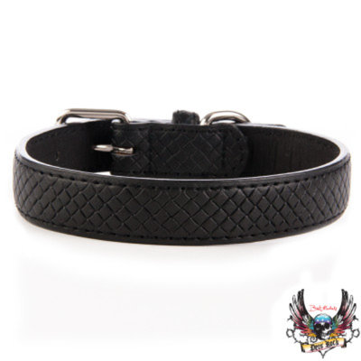 Bret Michaels Pets RockTM Embossed Dog Collar