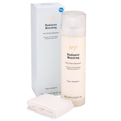 Boots No7 Radiance Boosting Hot Cloth Cleanser, 6.7 fl oz