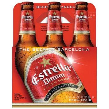 Estrella Damm Lager Beer, 11.2 fl oz, 6 pack