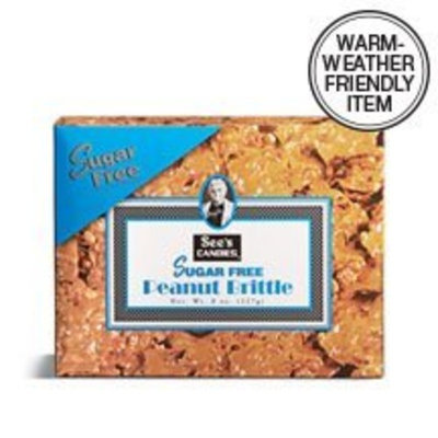Sees Candies See's Candies 8 oz. Sugar Free Peanut Brittle