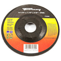 Forney 72300 Grinding Wheel Type 27 Steel Flex with 7/8-Inch Arbor AC60-BF 4-1/2-Inch-by-1/8-Inch