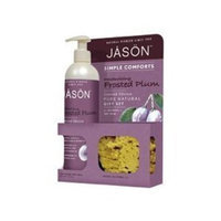 JĀSÖN JASON NATURAL PRODUCTS Simple Comforts Gift Set-Frosted Plum 2 pc