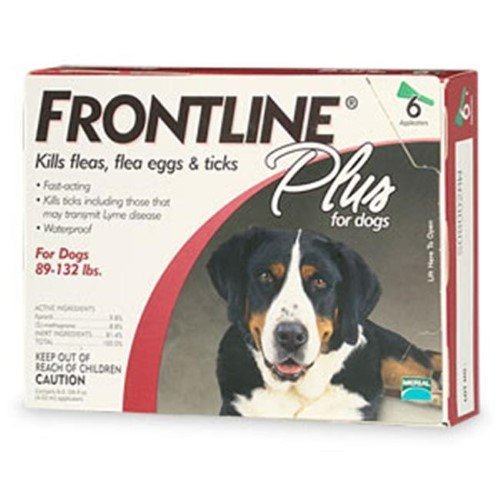 Frontline Plus For Dogs And Puppies 89-132 Lb 6 Pk