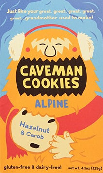 Caveman Foods Caveman Bakery - Caveman Cookies Alpine Hazelnut & Carob - 4.5 oz.