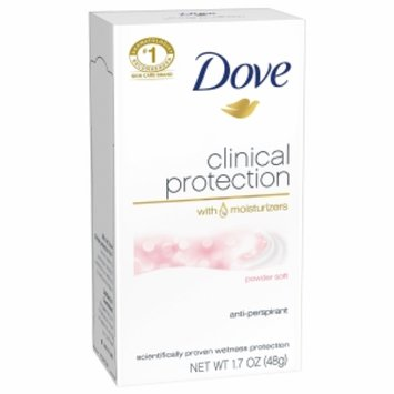 Dove Clinical Protection Antiperspirant Deodorant, Powder Soft, 1.7 oz