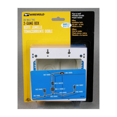 Wiremold NMW3-2 Double Gang Switch Box
